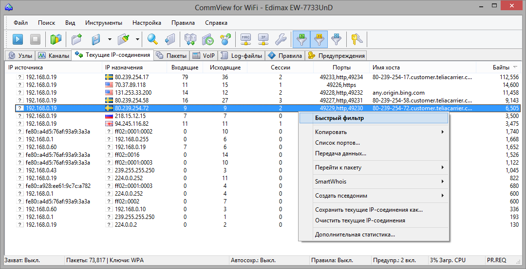 TamoSoft CommView for WiFi 7 1 795 x86 x64 Multilingual Crack